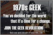 I am a 1970s geek.